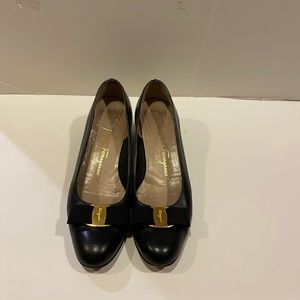 Salvatore Ferragamo shoes-Black -Size 9B